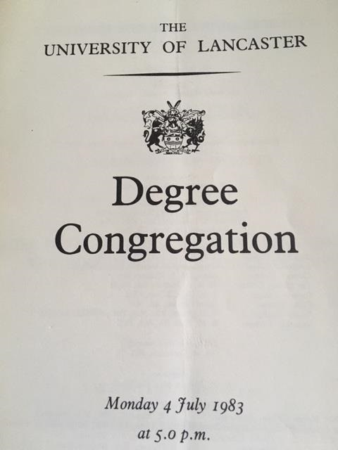 1983 degree congregation booklet, 1983 Degree Congregation Booklet