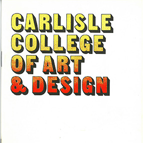 Carlisle College of Art and Design 1974-75