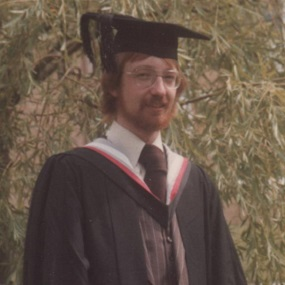 A photo of Gary Rothery at his graduation