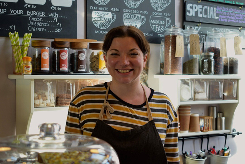 Ambleside Coffee Blog 2, Ambleside Coffee Blog: A smiling female, who works at the cafe