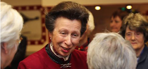 A visit from the Princess Royal