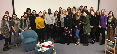 Former footballer shares moving story with Lancaster nursing students