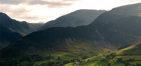 Rolling mountains of the lake district