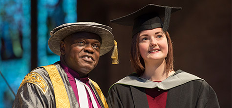 Vice Chancellor pays special tribute to award winning nurse Zoe on graduation day