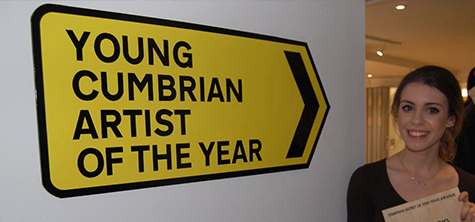 Triple celebration for Young Cumbrian Artist of the Year 2017