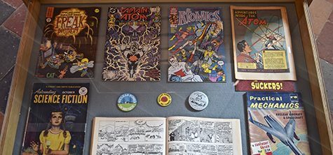 Art exhibit of comic covers