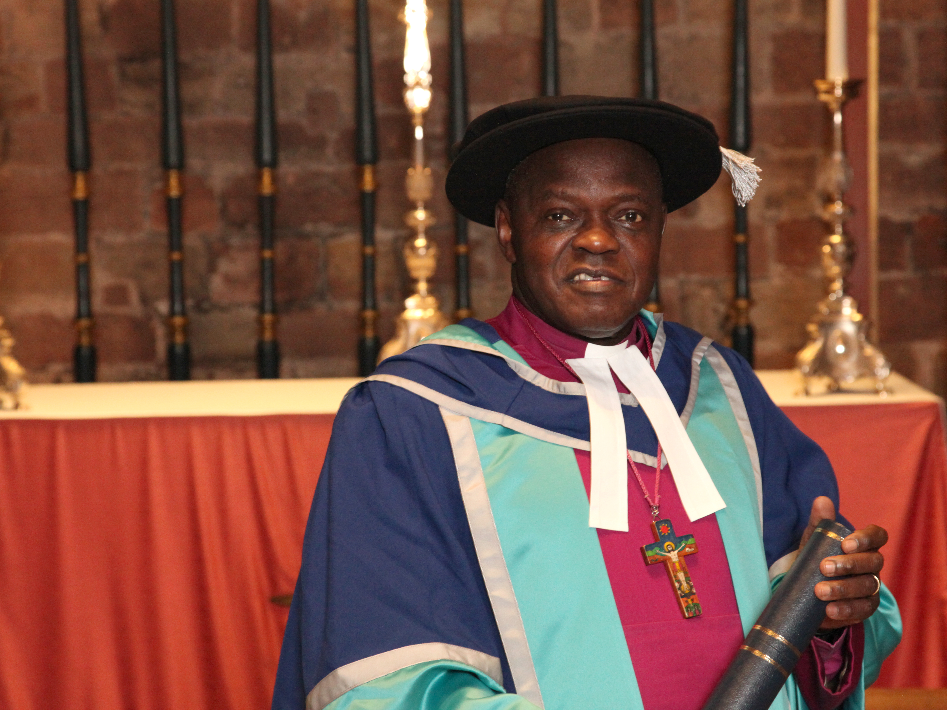 Archbishop of York awarded university's inaugural honorary doctorate