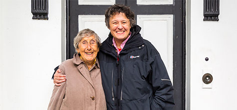 Charlotte Mason College alumnae and retired teacher Audrey Wright (aged 90) visits the Ambleside campus, October 2019