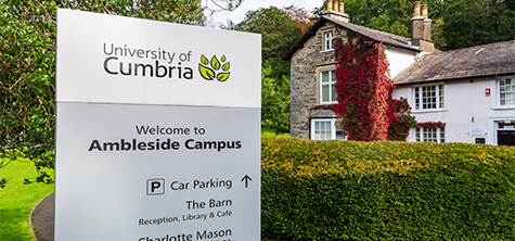 Ambleside campus sign