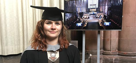 Young Cumbrian artist of the year Poppy Cookson, graduating BA Fine Art, 28 November 2019