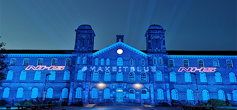 #makeitblue campaign lights up former Cumbria hospital as university says thank you to coronavirus heroes