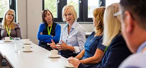 England's chief nursing officer Ruth May visits Lancaster University of Cumbria campus on 19 September 2019 - her first visit to a university in her role