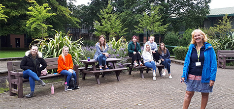 PGCE SEND cohort Lancaster, September 2020, with Inclusive Education lecturer Anne Gager (Front right) - for PGCE induction PR story