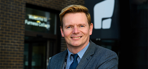 Furness College, Barrow, Principal Andrew Wren becomes Professor of Practice at University of Cumbria. September 2020