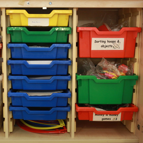 primary maths drawers and equipment